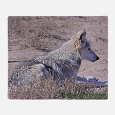 mexican-wolf Throw Blanket