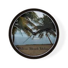 Pelican Beach Belize200 writing15.35x15 Wall Clock