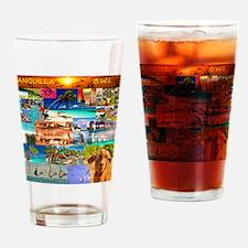 10 x10  XX fin B o B  collage cafep Drinking Glass
