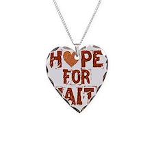 HOPE FOR HAITI burnt orange Necklace Heart Charm