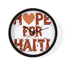 HOPE FOR HAITI burnt orange Wall Clock