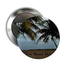 "Pelican Beach Belize200 writing3.5x3. 2.25"" Button"
