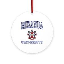 MIRANDA University Ornament (Round)