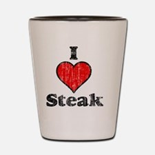I heart steak vintage Shot Glass