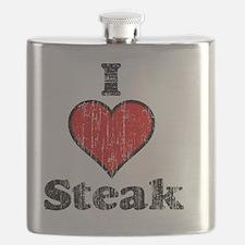 I heart steak vintage Flask