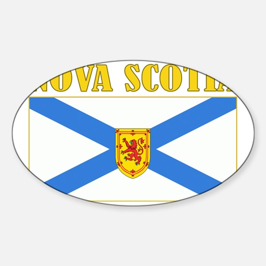 Nova Scotia-Flag Sticker (Oval)