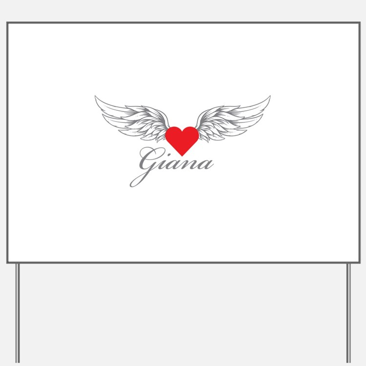 Angel Wings Giana Yard Sign