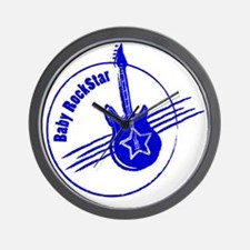 LittleRockStar_darkBlue Wall Clock