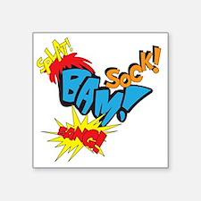 """Baby Super Hero Square Sticker 3"""" x 3"""""""