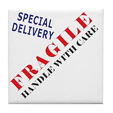 Fragile Baby Shirt Back Tile Coaster
