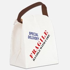 Fragile Baby Shirt Back Canvas Lunch Bag