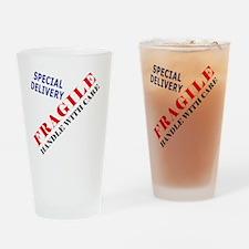 Fragile Baby Shirt Back Drinking Glass