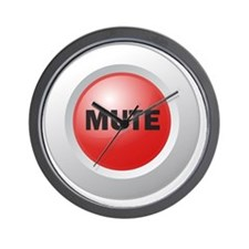 Mute Button Wall Clock