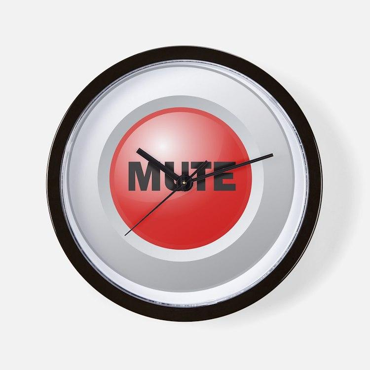 Mute Button Wall Clock