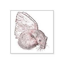 "angel ferret Square Sticker 3"" x 3"""