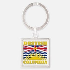 British Columbia-Flag Square Keychain