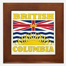 British Columbia-Flag Framed Tile