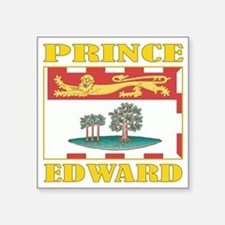 "Prince Edward Is-Flag Square Sticker 3"" x 3"""