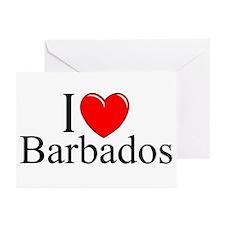 """I Love Barbados"" Greeting Cards (Pk of 10)"