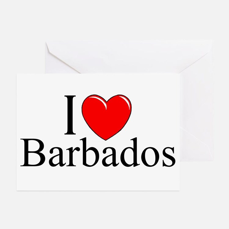 """I Love Barbados"" Greeting Cards (Pk of 10)"
