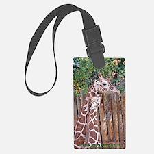 giraffe-cuddle Luggage Tag