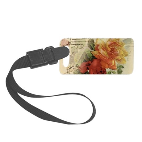 caferosesnotecards Small Luggage Tag