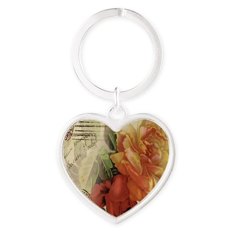 cafeapparelroses Heart Keychain