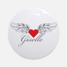 Angel Wings Giselle Ornament (Round)