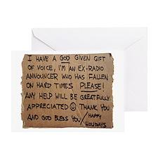 Homeless Radio copy Greeting Card