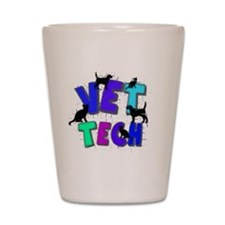 vet tech Shot Glass