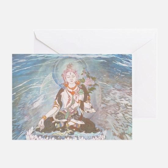 white tara. Greeting Card