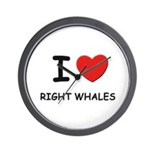 I love right whales Wall Clock