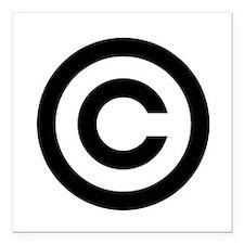 "Copyright Square Car Magnet 3"" x 3"""