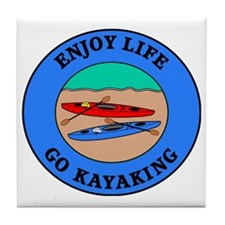 kayaking4 Tile Coaster