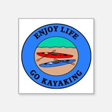 "kayaking4 Square Sticker 3"" x 3"""