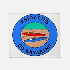 kayaking4 Throw Blanket