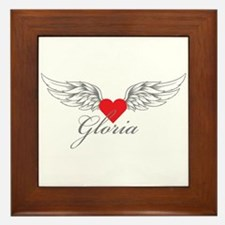 Angel Wings Gloria Framed Tile