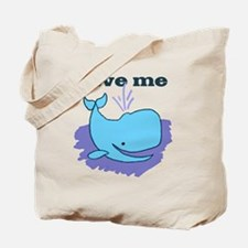 happy whale save me Tote Bag