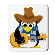 Country-Guitar-Penguin-Scarf Mousepad