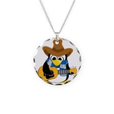 Country-Guitar-Penguin-Scarf Necklace