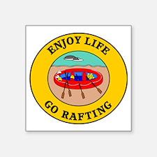 "rafting3 Square Sticker 3"" x 3"""