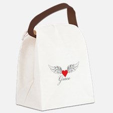 Angel Wings Grace Canvas Lunch Bag