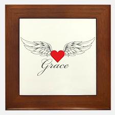 Angel Wings Grace Framed Tile