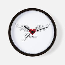 Angel Wings Grace Wall Clock