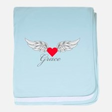 Angel Wings Grace baby blanket