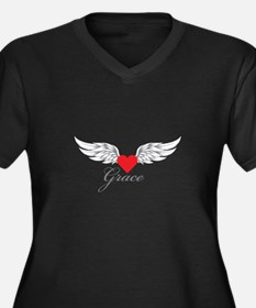 Angel Wings Grace Plus Size T-Shirt