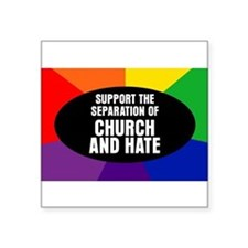 CHURCH AND HATE Oval Sticker