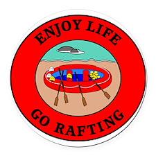 rafting2 Round Car Magnet