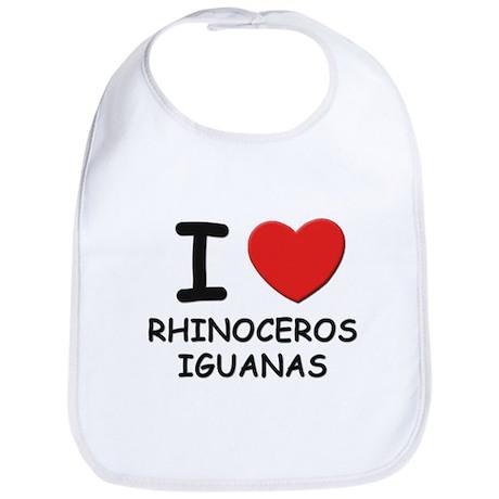 I love rhinoceros iguanas Bib
