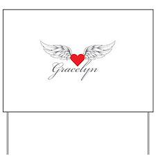 Angel Wings Gracelyn Yard Sign
